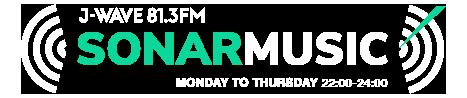 J-WAVE 81.3FM SONAR MUSIC MONDAY TO THRSDAY 21:00-23:55